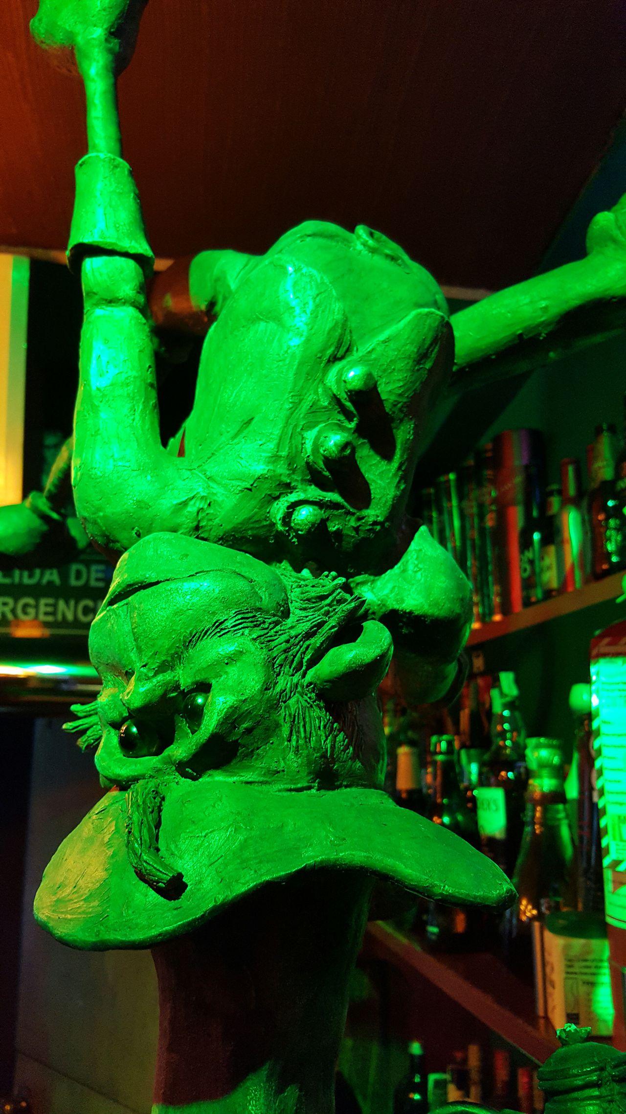 Green Color No People Close-up Sculpture Statue Green Elf La Paz, Bolivia Indoors  Night Irish Pub Elf Goblin Elve Green Color