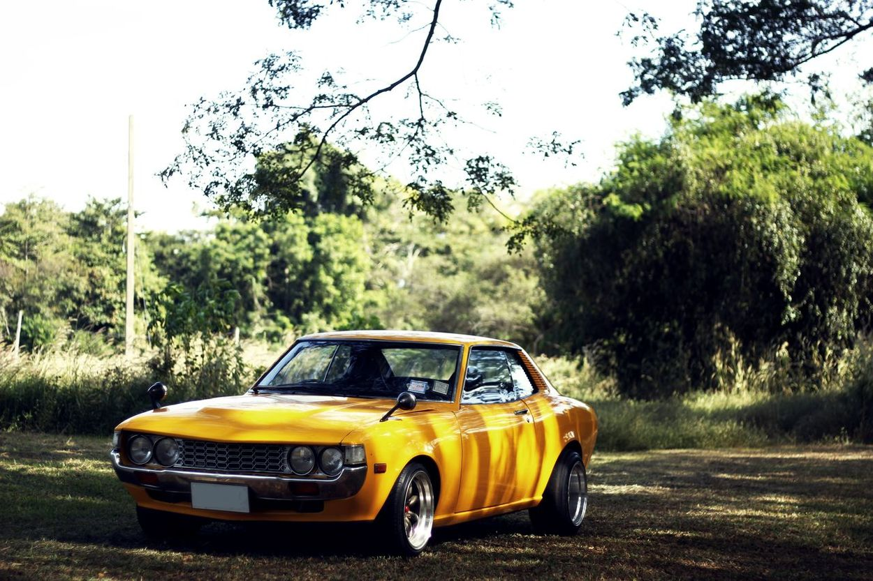 Toyota Celica Car Day No People Outdoors Sky Toyota Transportation Tree Yellow