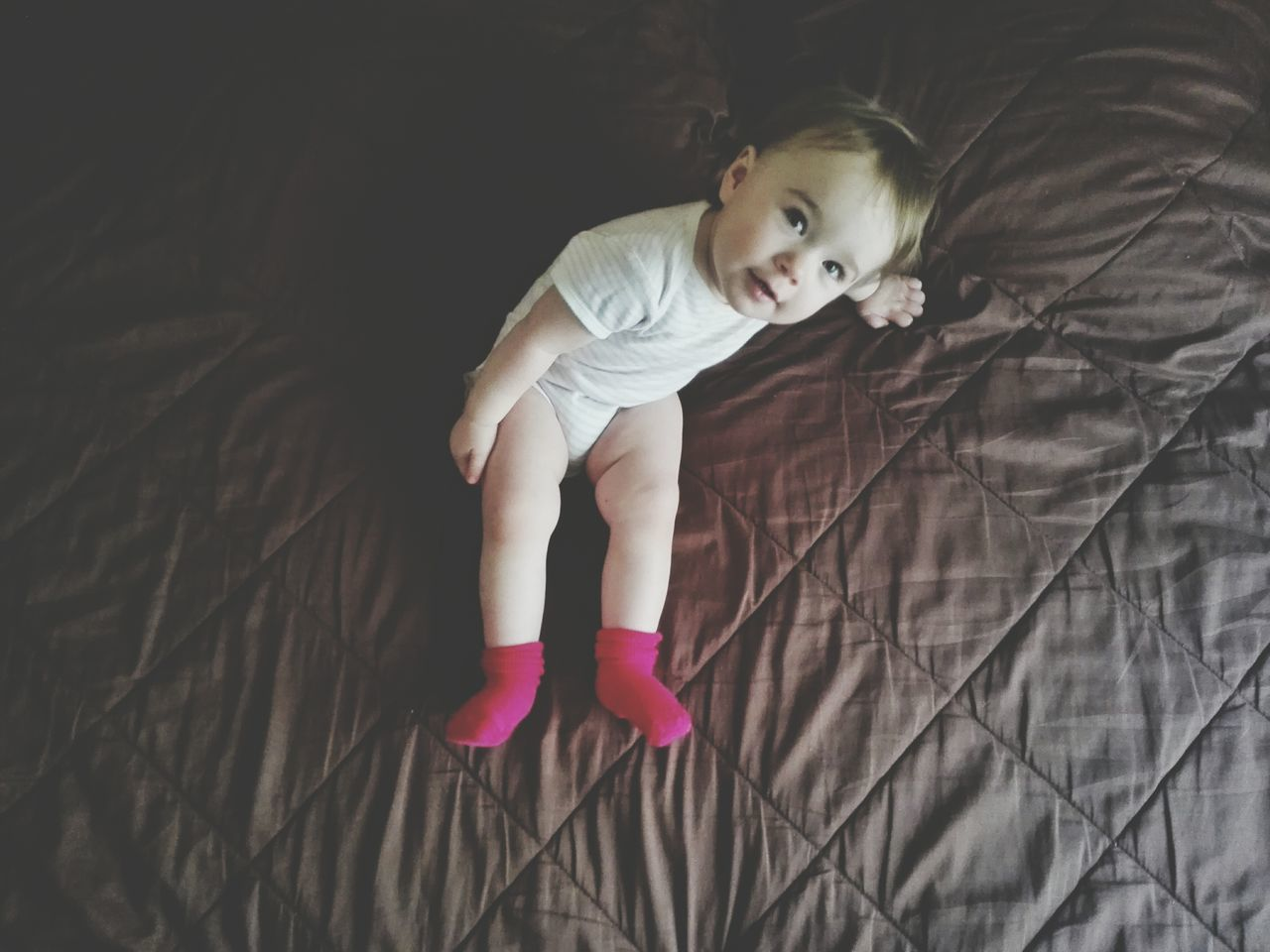 Child Childhood One Girl Only Full Length Children Only One Person High Angle View Blond Hair Indoors  Day Portugal Lisbon Honor6 Baby Girl 14months Looking At Camera Portrait Portrait Of A Girl People Millennial Pink The Portraitist - 2017 EyeEm Awards