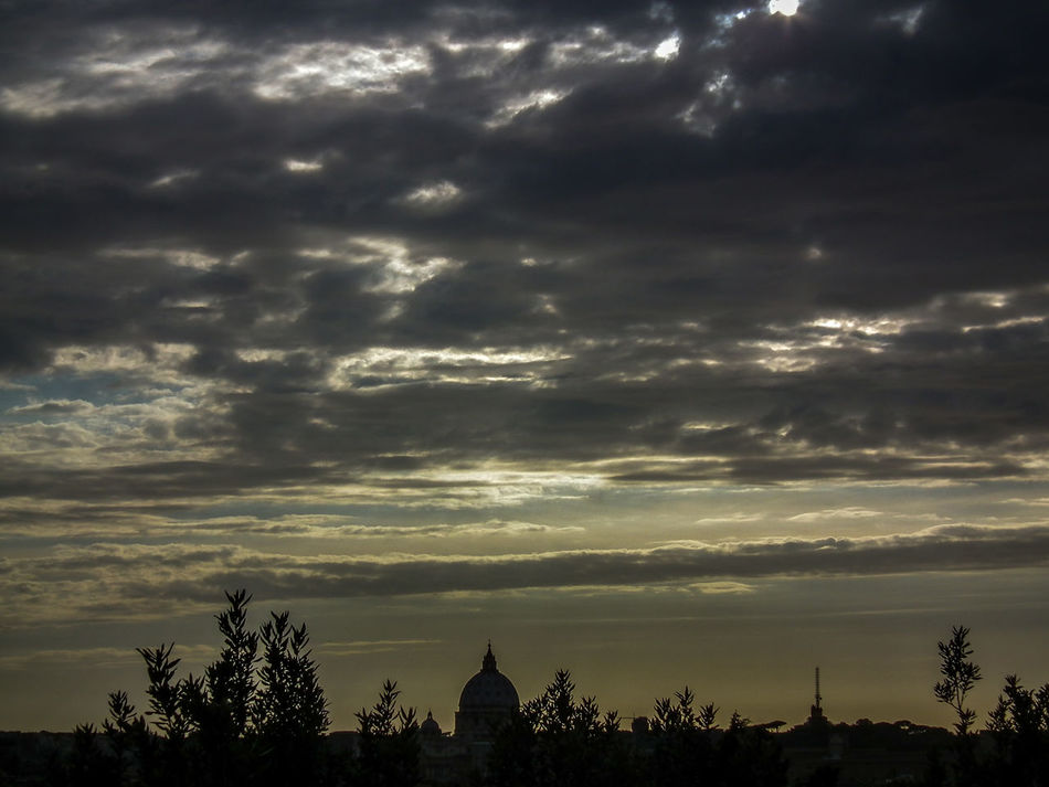 Cielo Cielo Nuvoloso Cloud - Sky Dramatic Sky Italia Italien Italy Italy❤️ Nature No People Panorama Pincio Rom Roma Rome Silhouette Sky Sonnenuntergang Storm Cloud Sunset Sunset Silhouettes Sunset_collection Tramonti Tramonto Tree