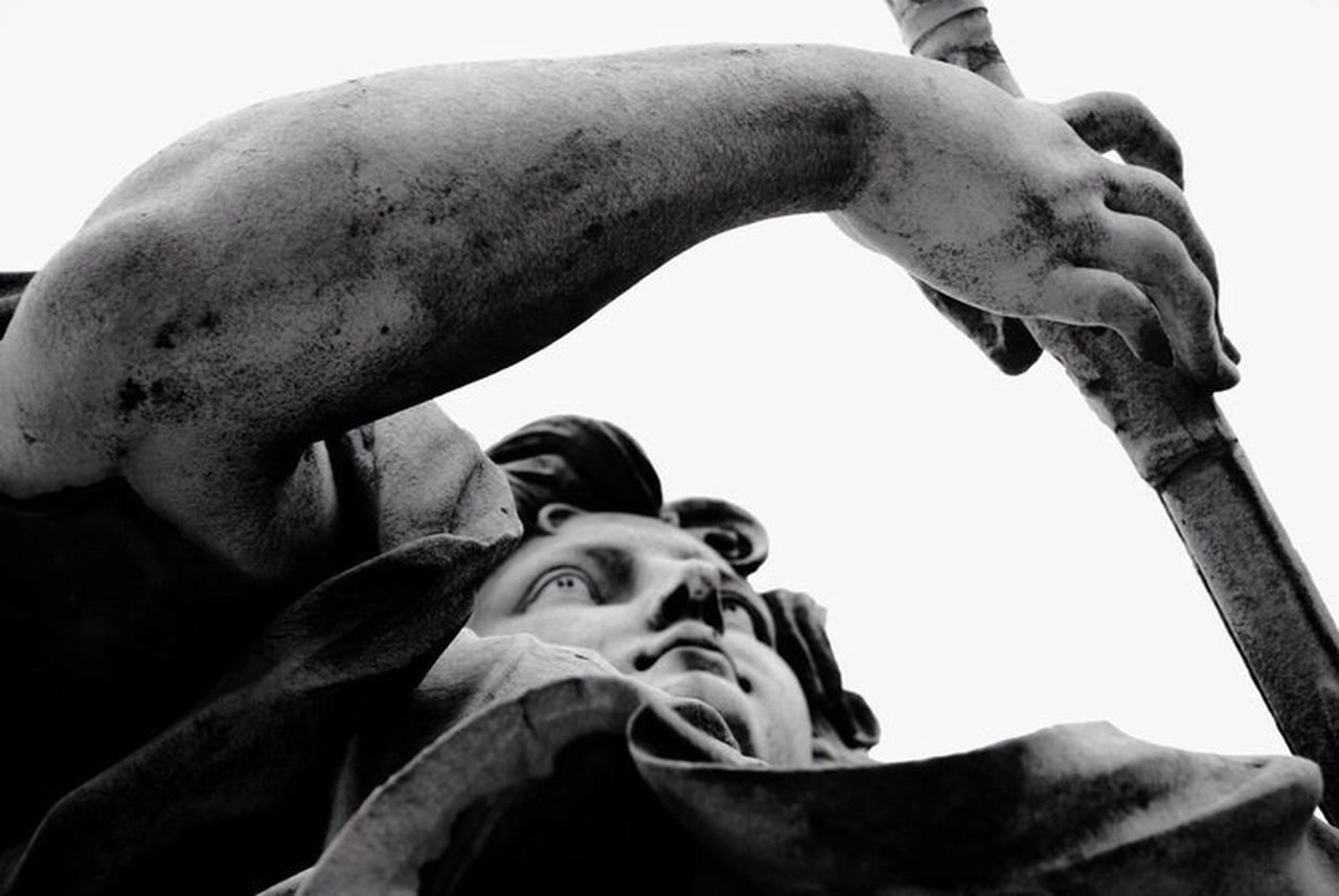 low angle view, one person, human body part, close-up, day, outdoors, young adult, human hand, adult, people, adults only