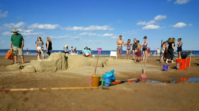 Sand Sculpture Contest Sand Sculpture 😚 On The Beach Opme⛱ Beach PhotographySea And Sand EyeEm Best Shots Pixlr Edit Maine Photography 🌲 S6
