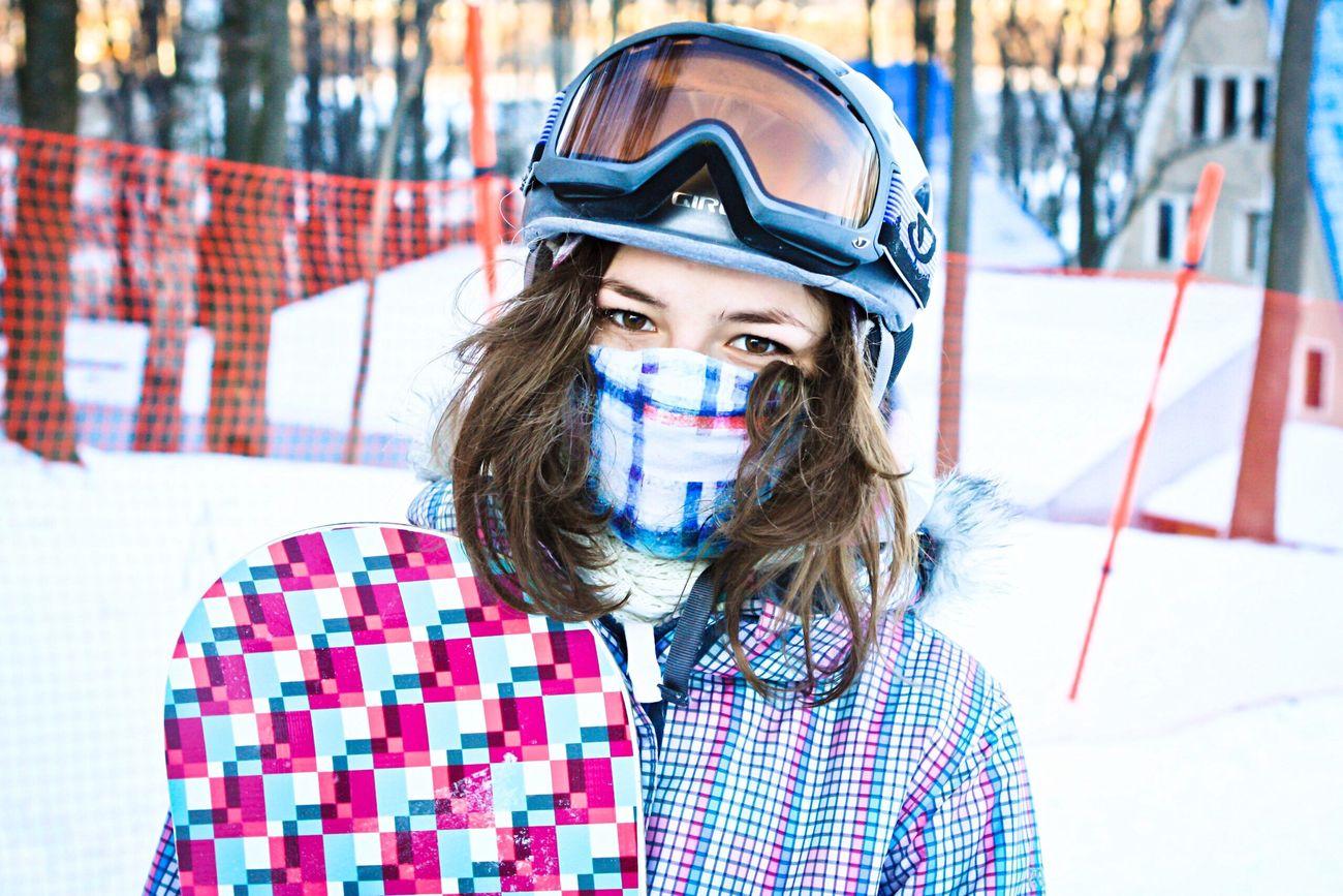 On A Health Kick Hi! It's me) Snowboarding Snowboard Girl People Winter Russian Winter Portrait Sport сноуборд ❄️?✌️??