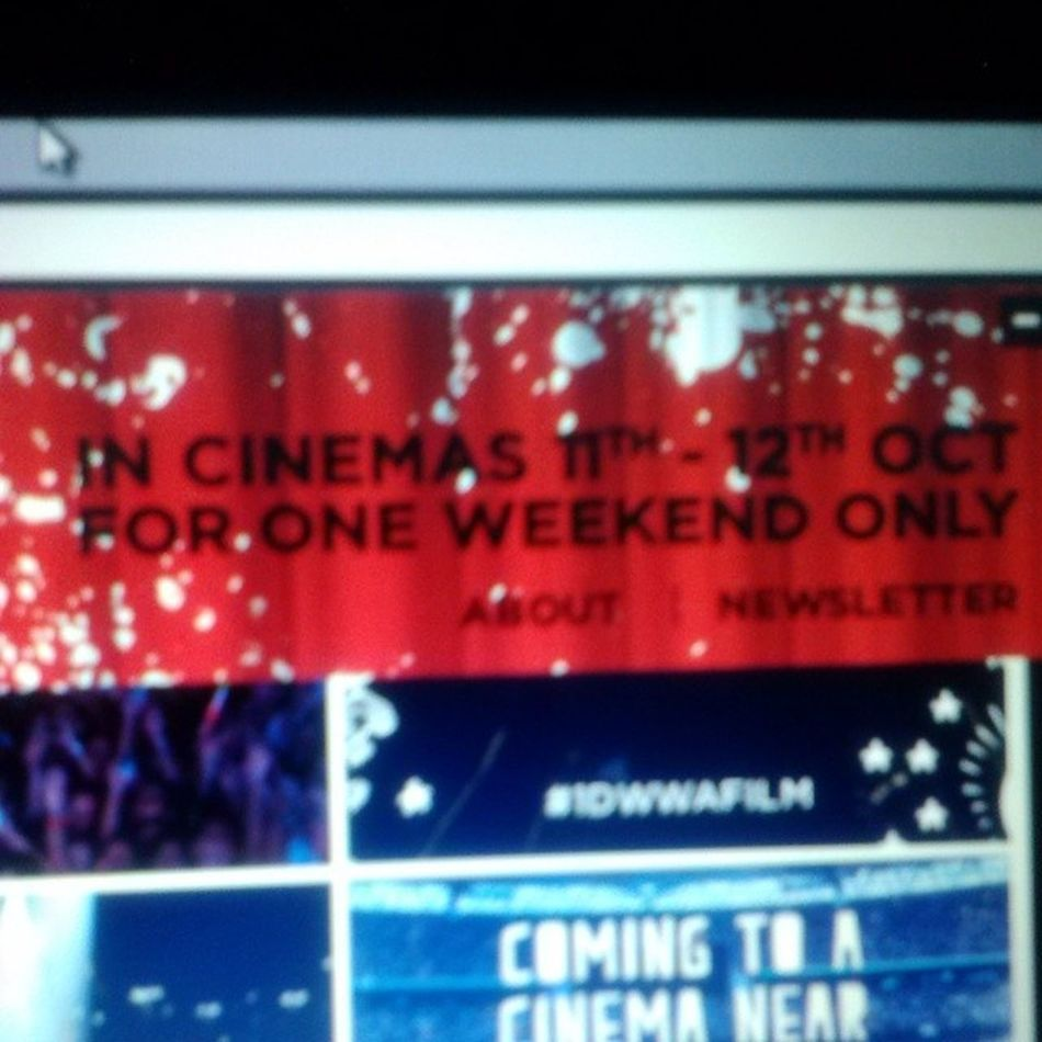 1 weekend only! :) 1DWWAFILM Tickets on sale July 28th!!!:)