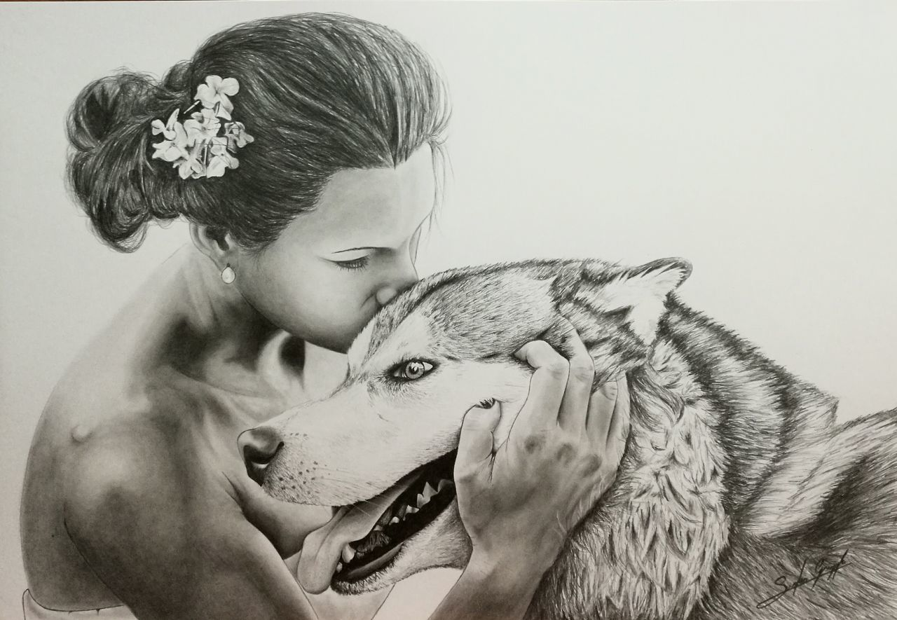 The wolf end the bride, matita 0.5 B su cartoncino 33x48 Drawing Draw Drawing - Art Product Drawing ✏ Drawing, Painting, Artwork Disegno Matitabiancoenero Wolf Bride Black & White Black & White Photography First Eyeem Photo Sketch Sketching