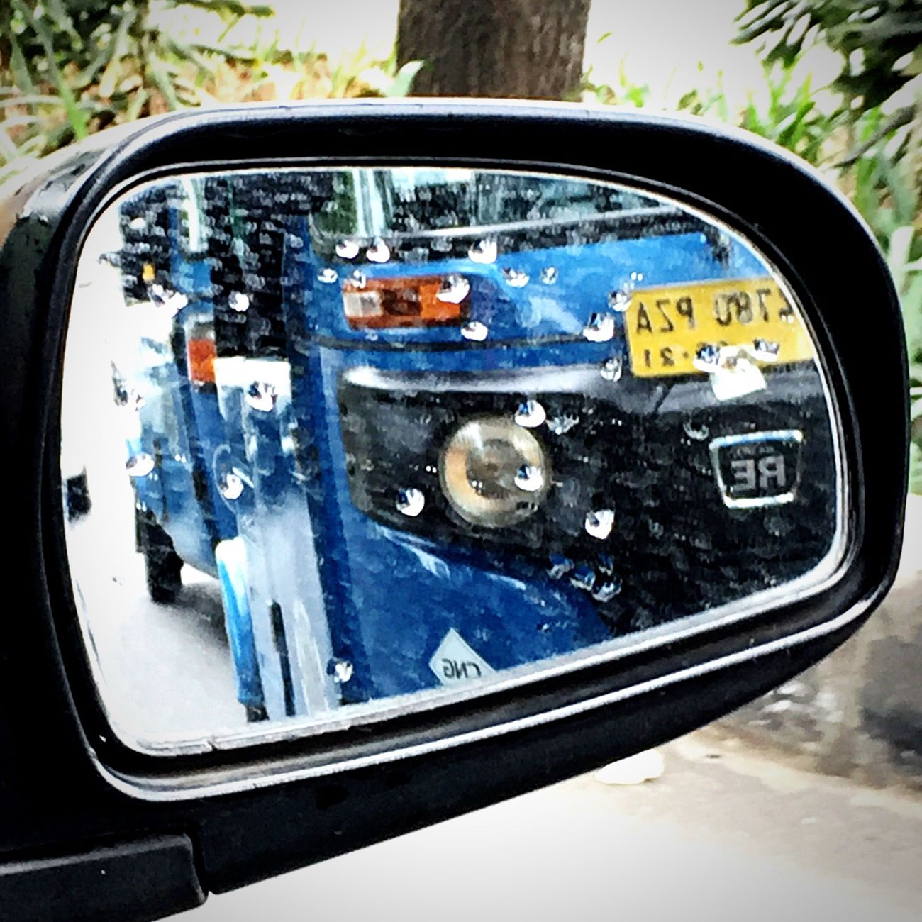 Transportation Land Vehicle Bajaj Vehicle Mirror Outdoors Side-view Mirror Reflection