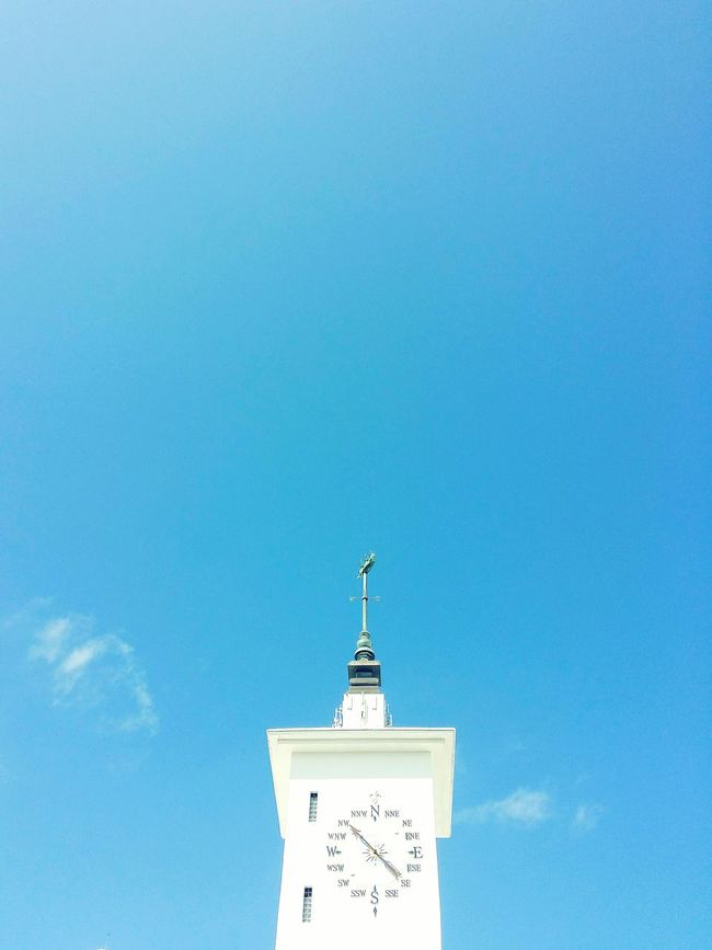 Architecture Built Structure Low Angle View Blue High Section Building Exterior Tower Tourism Sky Outdoors Day Tall - High History EyeEm EyeEm Best Shots Clear Sky Vintage City Life