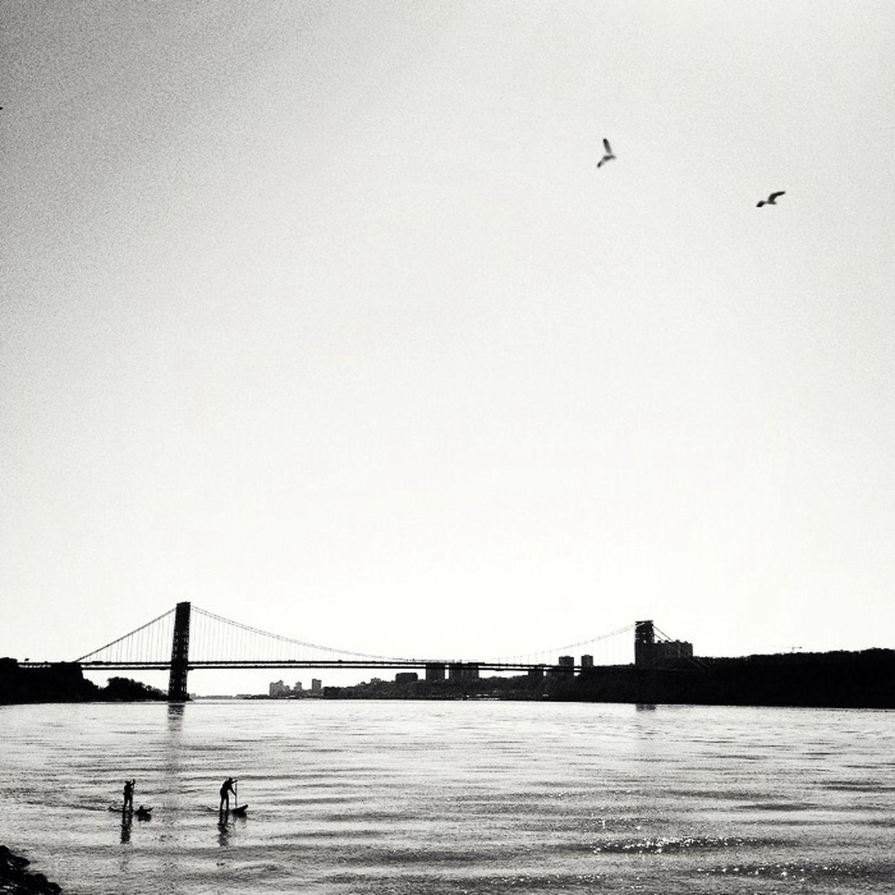 Pairs. NYC Blackandwhite George Washington Bridge