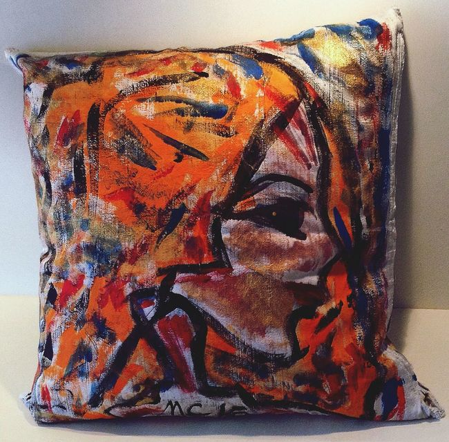 Hand painted cushion by mcdesigns.co That's Me