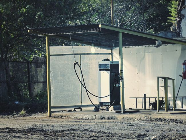 Gasoline Fuel And Power Generation Fuel Pump No People Outdoors Old Ruin