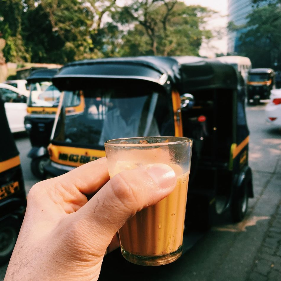 TeaInTheStreets Mumbai India Rickshaw Autorickshaw Miles Away Travel Tea Masalachai MasalaTea Drink Transportation Food And Drink