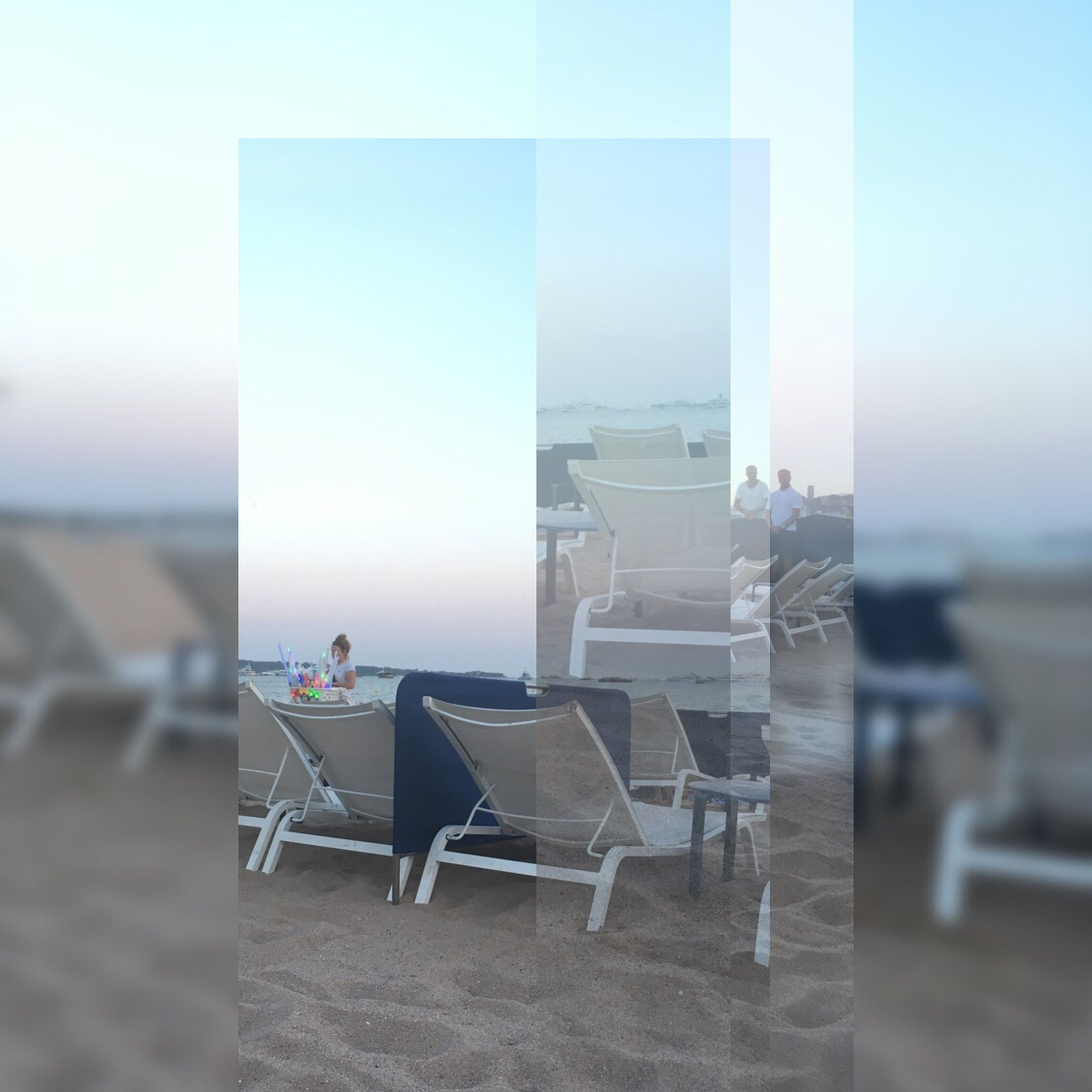 chair, no people, table, luxury, sea, clear sky, day, outdoors, sky, architecture, nature