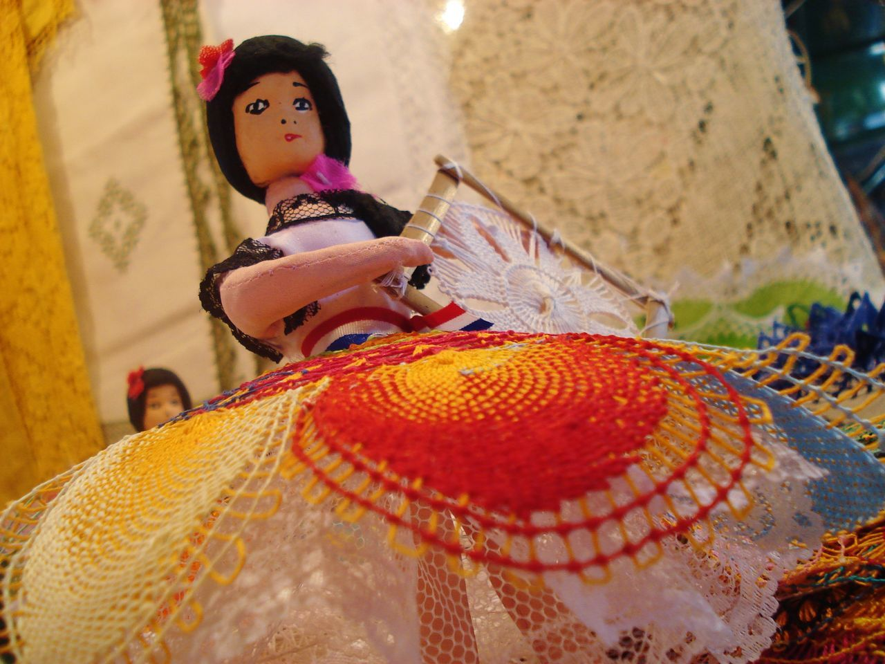 Ao Po-i Close-up Cultures Doll Paraguay Tradition Traditional Clothing ñanduti