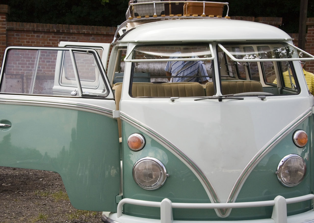 Packing a vintage volkswagen with a lot of baggage on the roof - Car doors open Car Classic Car Door Front View German Germany Journey Land Vehicle Luggage No People Old Oldtimer Open Packing Roof Sixties Suitcase Transportation Travel Vacations Vehicle Vintage Volkswagen VW VW Bus