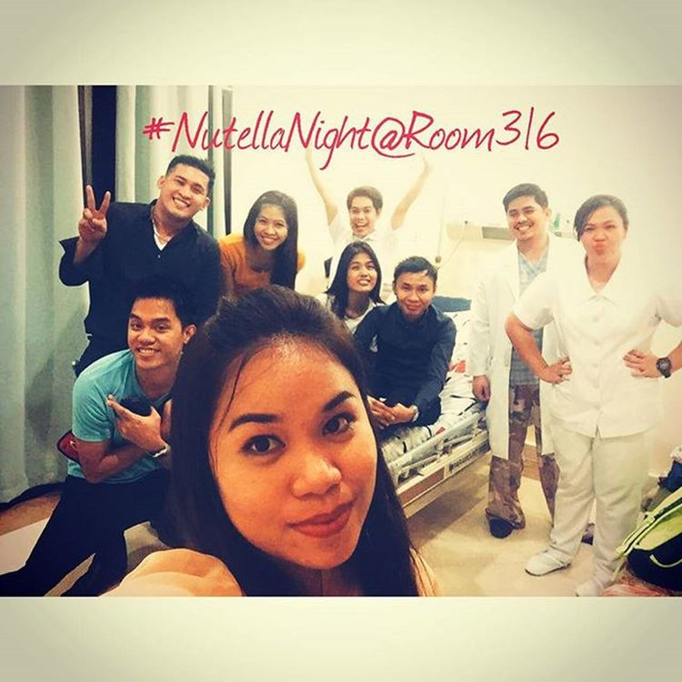 PESKIES AT ROOM 316: A one crazy night with them... After attending the CRMC Hospital Party they visited me in my room. My sweet friends wreck the whole area. Rodel Mylabs and Maynard Smurfy- my nutella gentlemen of the night. @mikaelsmile2 -said it's nutellaroom 402. @tintin_babes - sharing and flinging with jimboi banana nutella. @jloveduran - a nutella night with doc pong. @yna_rie -nutellaselfie overload to you. Sorry for Not Nutella in the pic --- @monspinky @emarijane @19fortysevencurls @razkid02 Ajcaballero, RonAce. 😁😉😄😝😜😁😂👍👌Nutellanight Visitorsrounds Wheniwassick Cheermeup Peskiesonthego Seconawing Hushpeskies Inthegallery Gracias Latepost 12112015