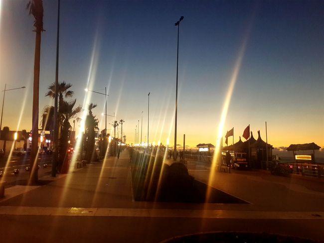 Cities At Night Nightlightlamp Night View Nightbeauty Nightbeach Relaxing View Lights First Eyeem Photo Cities By Night Light And Shadow Light And Dark Lightning Cities Beachnight Morocco Casablanca Beach
