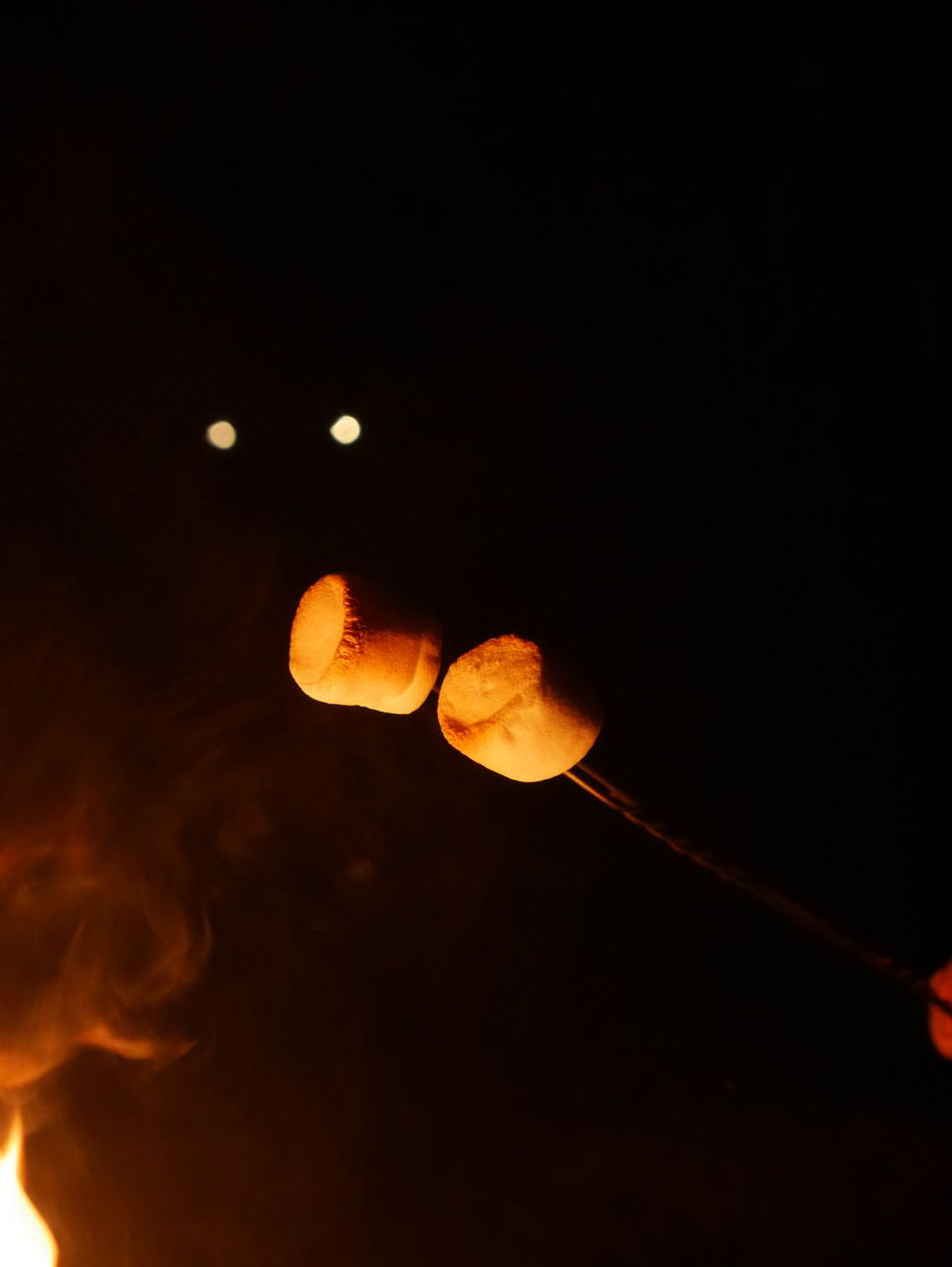 Roasting marshmallows. Marshmallow Roasting Marshmallow Heating Marshmallows Camping Fun Camping Fire Fuego 🔥 Hot Flames Firepit Fire Burning Flamed Outdoors Dark And Fire Eyes Reflectingeyes Spooky Eyes