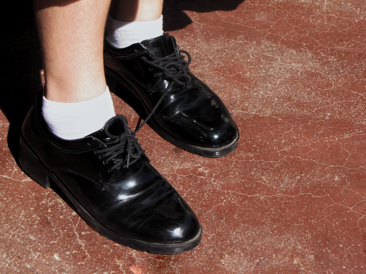 Lieblingsteil black Lovely Shoes. Leather Shoe Fashion low section people close-up