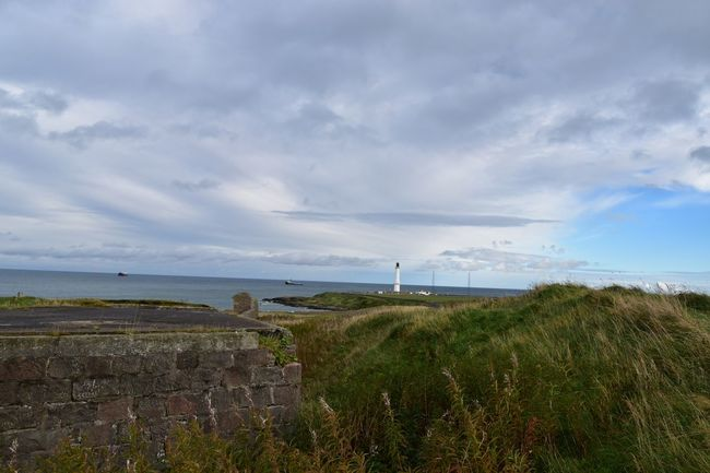 Taking Photos Aberdeen Sea Coastline Lighthouse Clouds Nikon D5500