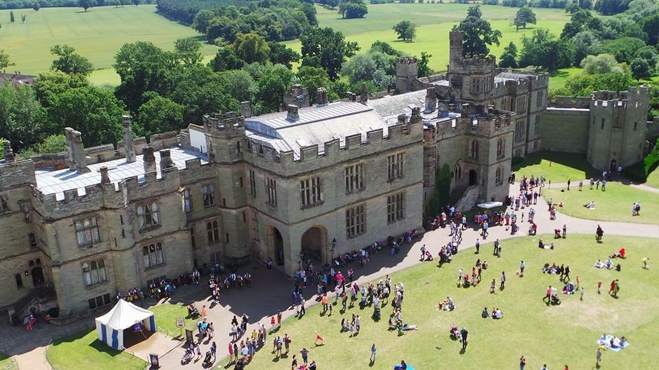 Architecture Building Exterior Castle Grounds Castle View  Castle Walls Countryside Gardens High Angle View Outdoors Overhead Photography Overhead View People Photography Popular Attraction Tourism Tourist Attraction  Trees Trees Collection Warwick Warwick Castle Warwick Gardens Warwickshire Aerial Shot