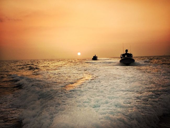 Sunset Patrol Boats Navy Sunset Ocean❤ Sunset Silhouettes Nautical Vessel Nautical Nature_collection Light And Shadow Shadows Landscape_Collection Landscapes Sun Enjoying Life Enjoying The View