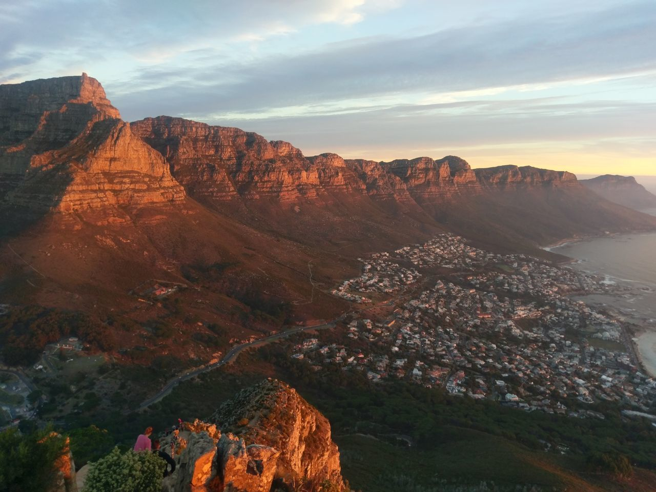 12 apostles from lions head at sunset, cape town, south africa Sunset Mountain Nature Landscape Sky Outdoors Scenics Beauty In Nature Red Nature Cape Town, South Africa Cape Town Capetown Lions Head Lionshead Night Beauty Travel Destinations The City Light EyeEmNewHere Miles Away