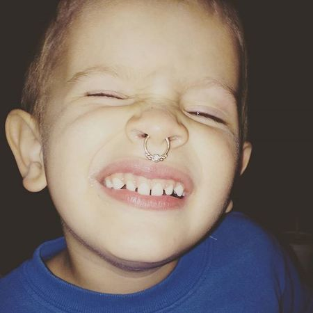 Lol G got his nose pierced ;-) Boys Septum Love Boymom Threenager