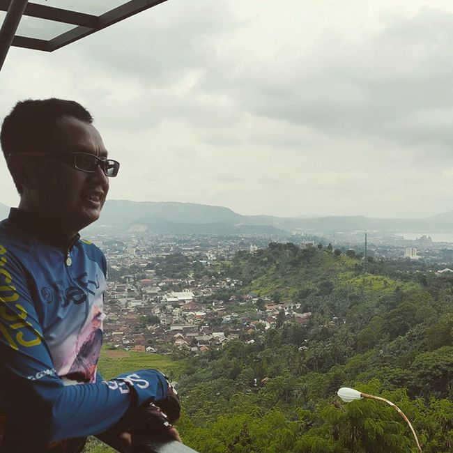 the hillside view of Lampung bay Sefo