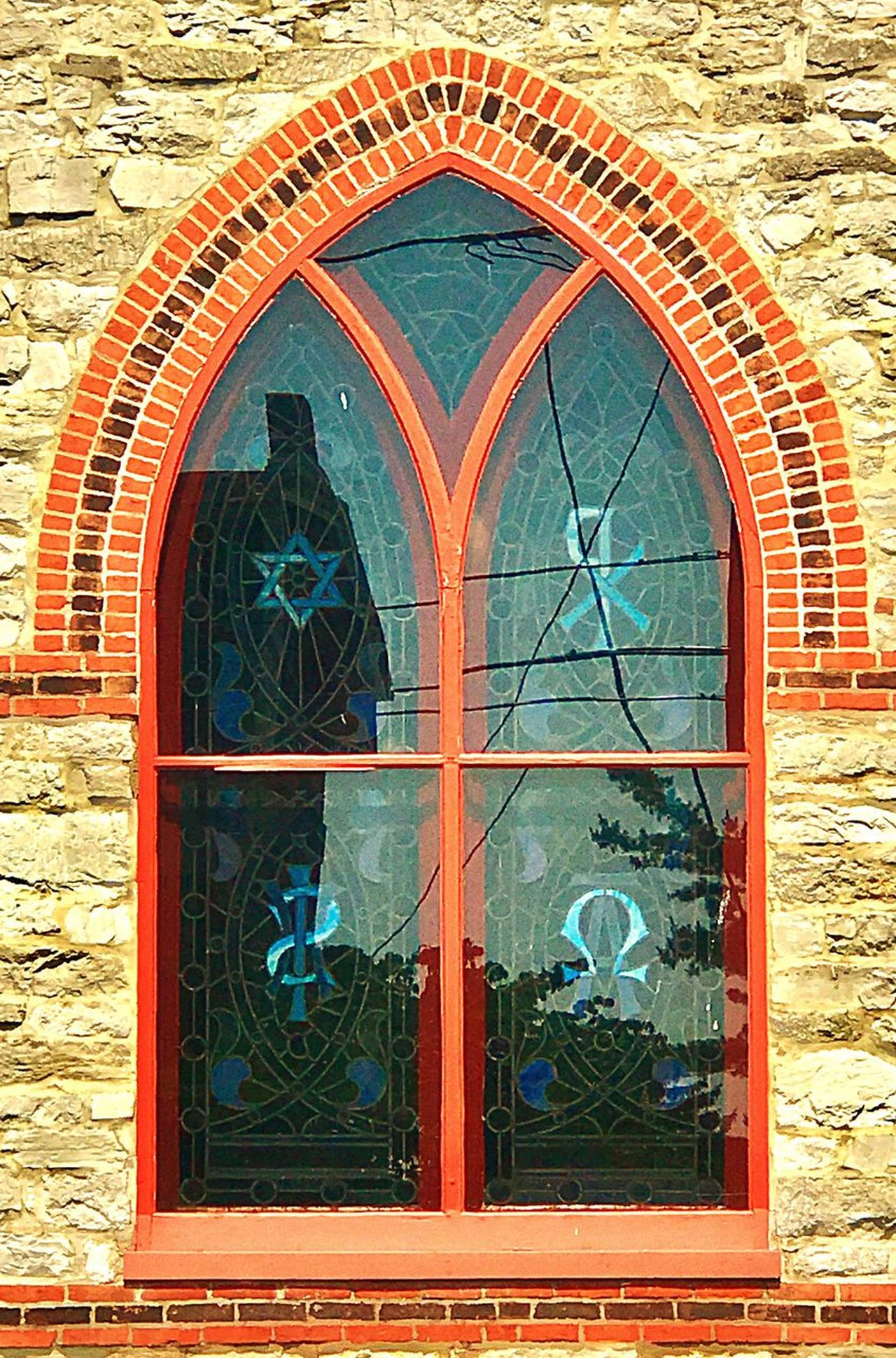 Place of Worship Window Architecture Window Built Structure No People Building Exterior Day Outdoors Place Of Worship Man Made Structure Close-up Brick Wall