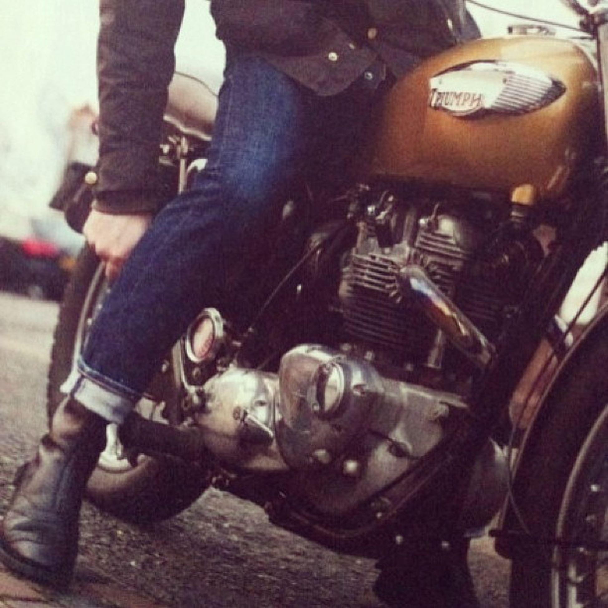 Vintage Biker Vintage Amekaji Bike Boot