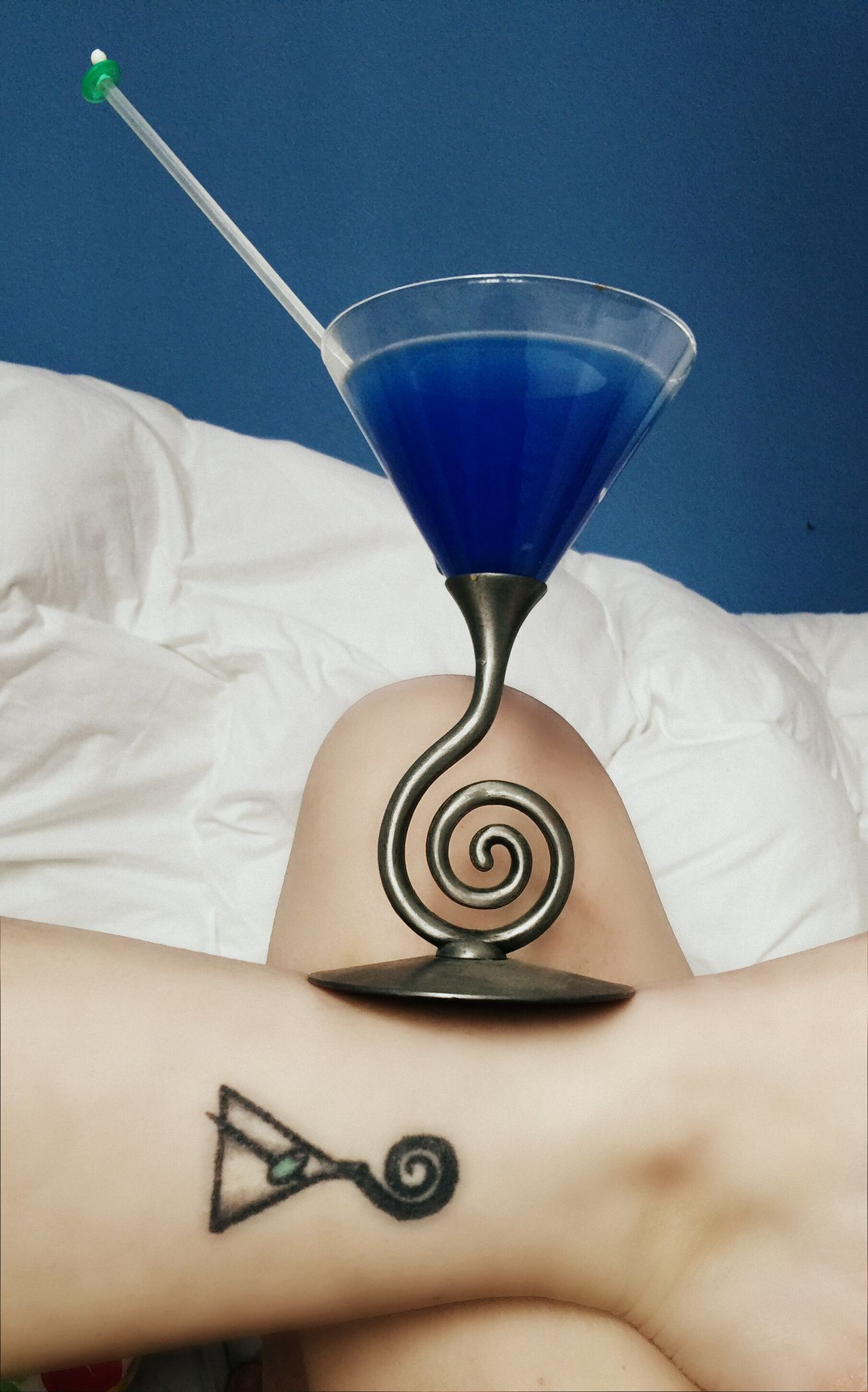 Liquid Lunch Tattoo Martini Tattoo Blue Martini Martini Blue Cocktail Cocktail In Bed Rebel Rebel Have A Drink Balanced Cocktails Night Night, Sleep Tight Drink Martini Glass Girls With Tattoos Legs Thats Me  Selfies Home Is Where The Art Is From My Point Of View Tattooed Drinking Fine Art Photography Two Is Better Than One