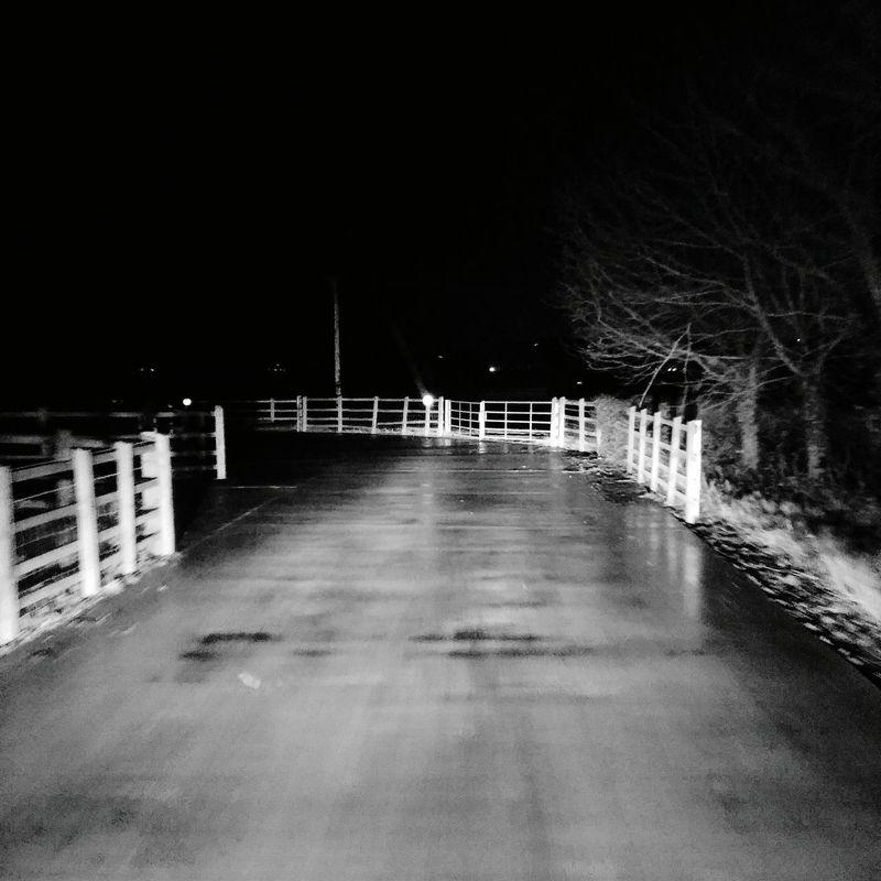 Road To Nowhere Black & White B&w Farm Night Night Time Eerie Desolate Rain Raining Rainy Rainy Night
