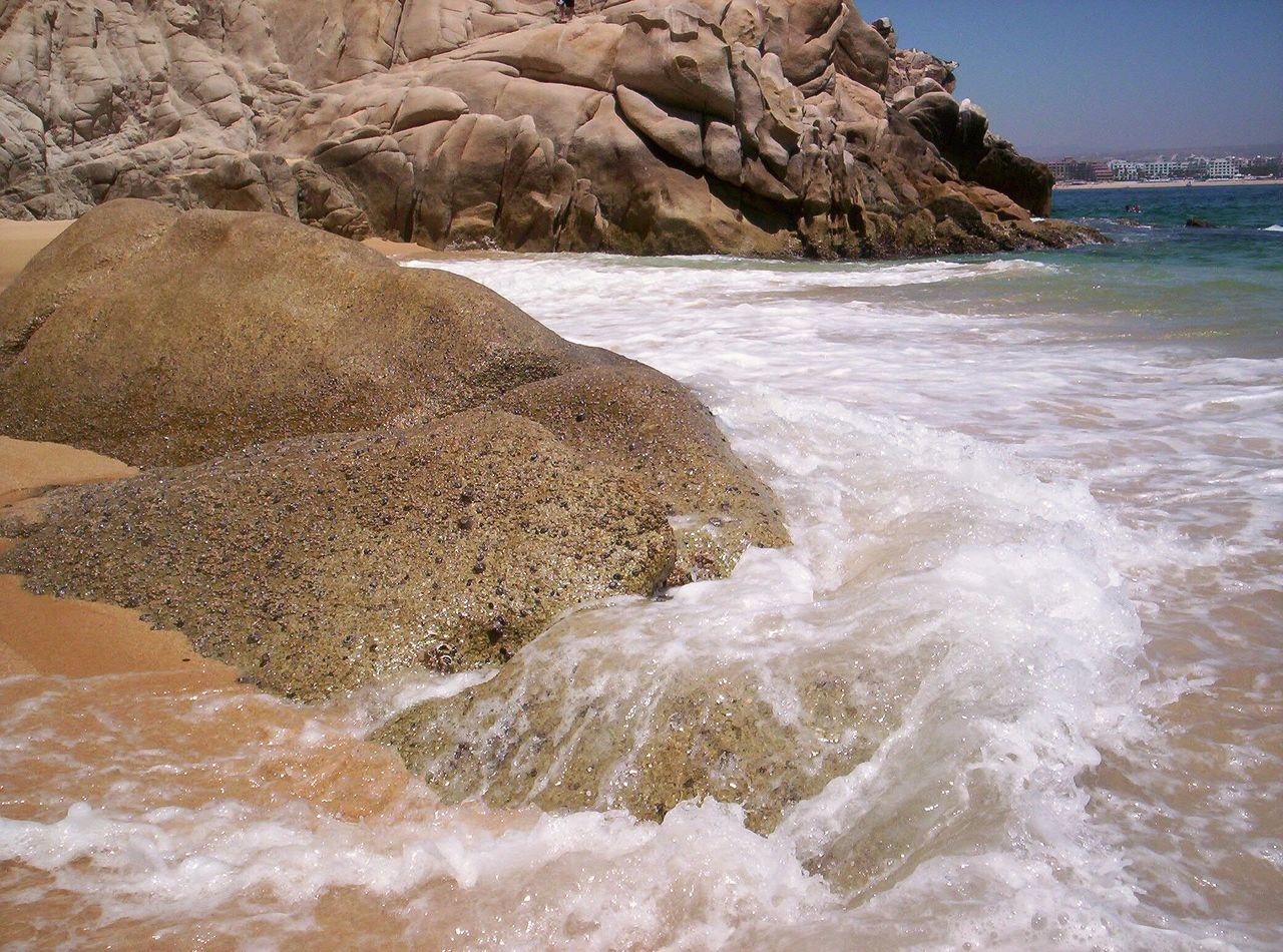 Beach Sand Nature Sea Wave Outdoors Water No People Landscape Coastal Feature Day EyeEmNewHere Pacific Coast Pacific Ocean Rocks In Water Rocks And Sea Rocks And Water Rock - Object Sunny Vacations Nature Cabo San Lucas Loversbeach Lovers Beach Mexico