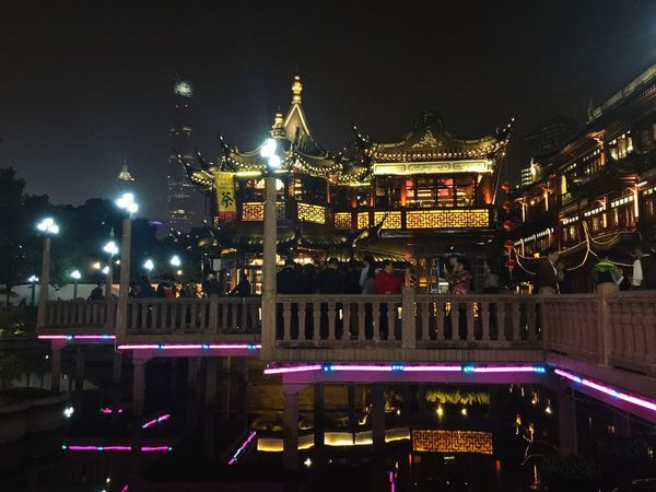 Mordern and traditional. Illuminated Architecture Night Built Structure Place Of Worship Travel Destinations Religion City Sky No People Water Cultures Outdoors