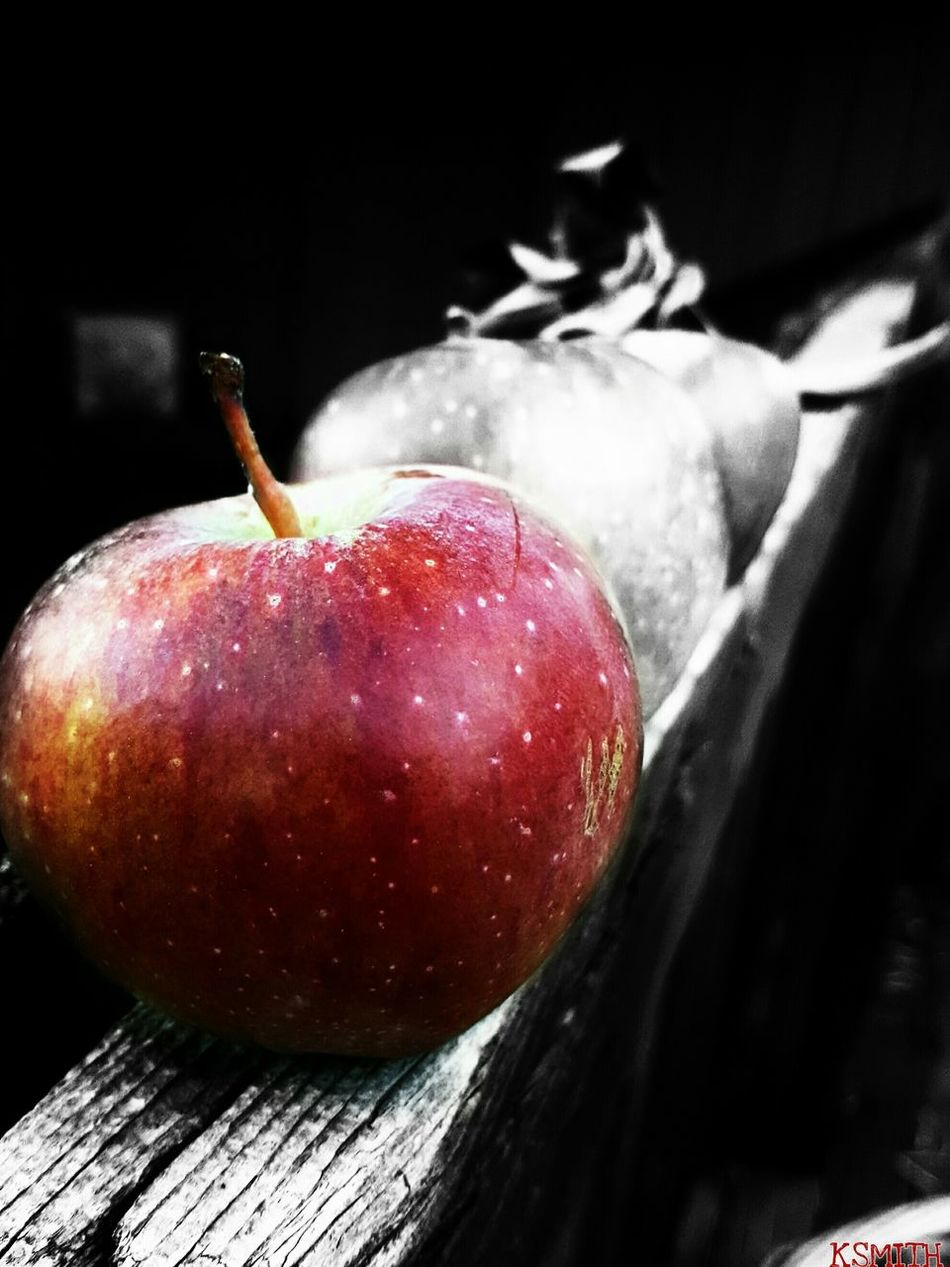 KSMITH22 Edited Black Background Tranquility Nature Close-up Apple Colorsplash