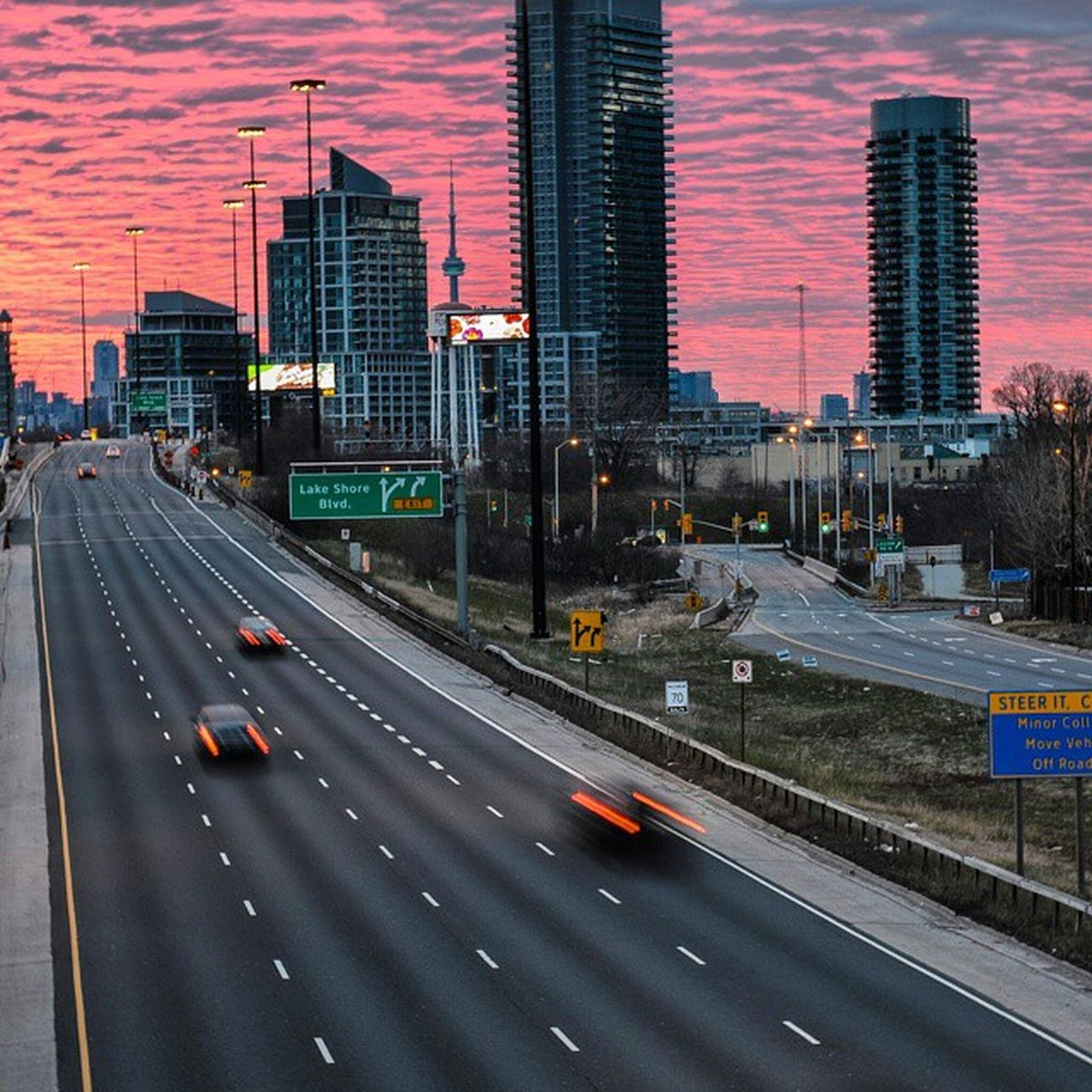 The sky on my drive in this morning. Early Sunrise Beautiful Commuter Toronto Bigcitylife Clouds Highway Cntower Ontario Canada Nofilter Nikonphotography Nikon Digitalphotography Noeffect Cars Lovetocreatepictures Lovetotakepictures Rrhurstphotography Latowphotographersguild