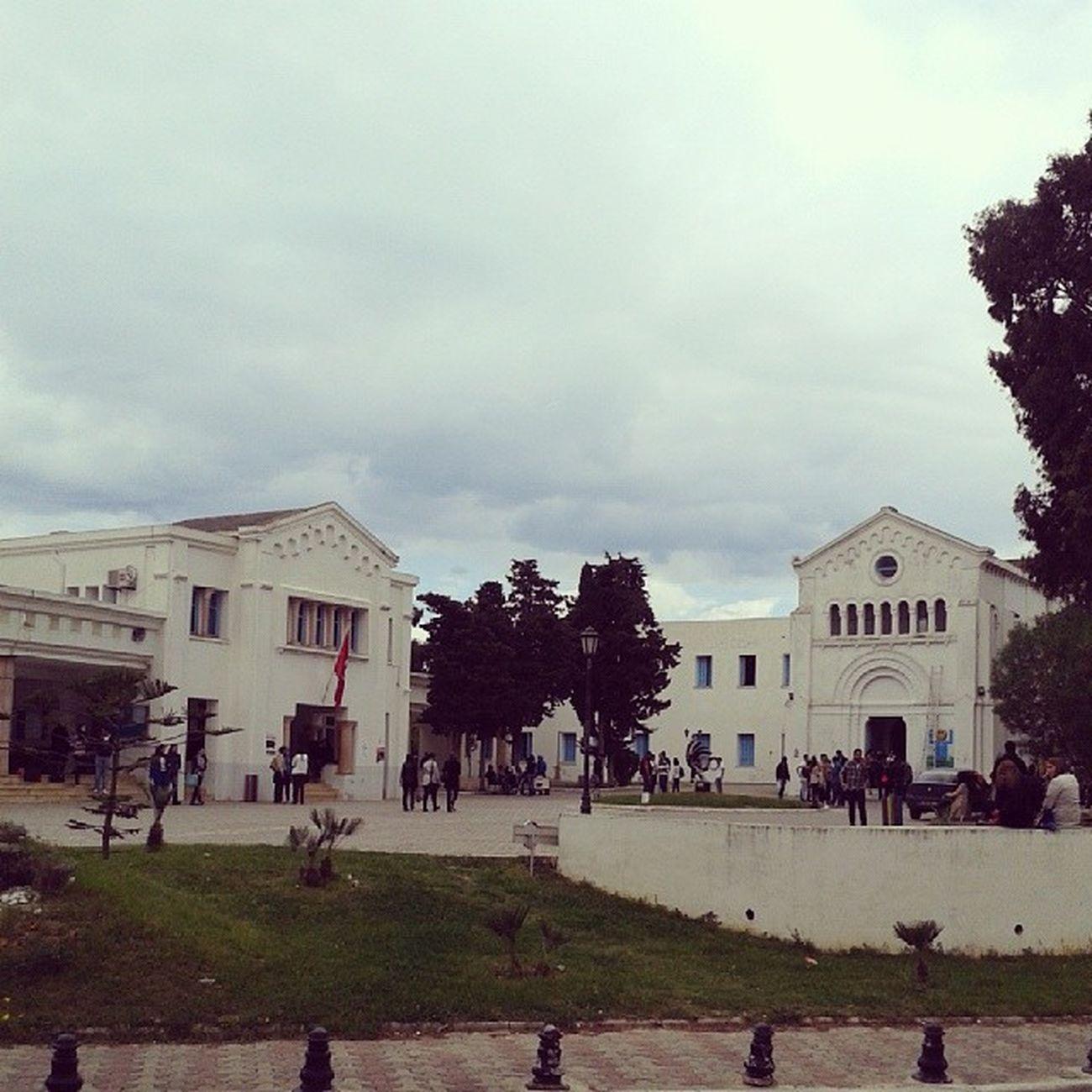 Idreamoftunisia InstagramTunisie Instagramtn Cloudy sky IHEC Carthage Tunisia