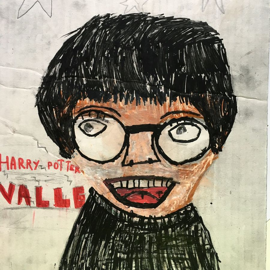 I have a 6-year old drawing and painting talent at home. Headshot Close-up Harry Potter Harrypotterfan Drawing Painting Portrait Portraits Kids Are Awesome Childrens Drawing Creativity Creative Kids