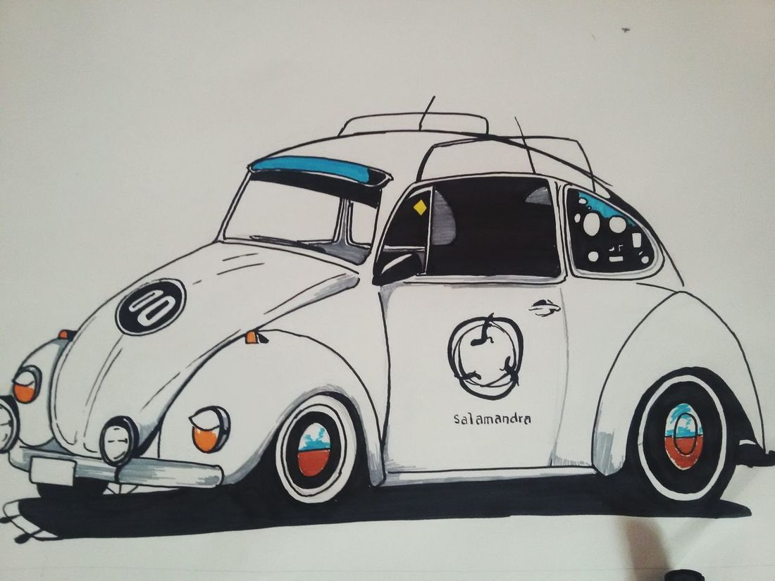 Open Edit Cars Old Old Cars Volkswagen Bocho Fusca Draw Creative Arts  Escarabajo Check This Out