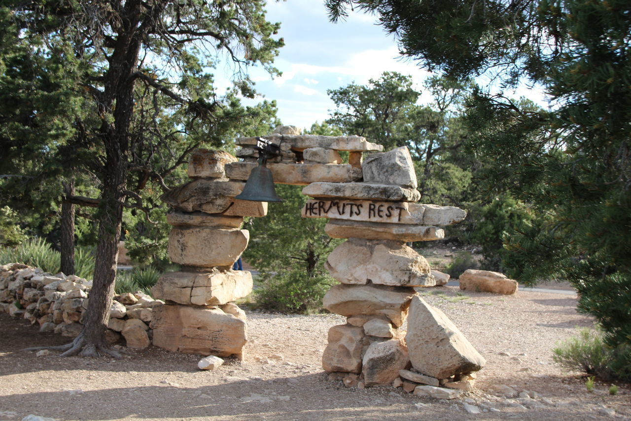 Ancient Ancient Civilization Architecture Beauty In Nature Clear Day Day Grand Canyon Hermit's Rest History Last Stop Nature No People Old Ruin Outdoors Sculpture Sky Statue Travel Destinations Tree Unedited Neighborhood Map