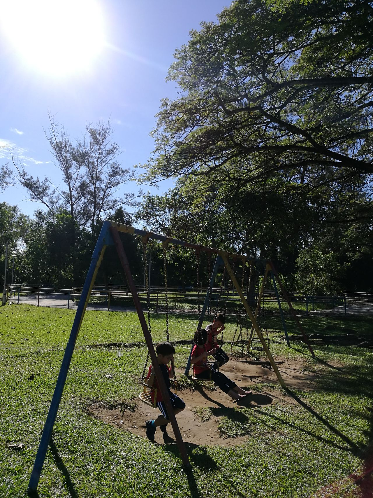 Prince Philip Park, Kota Kinabalu will soon be gone.. Tanjungarubeach Kotakinabalu Beachfront Tree Playground Park - Man Made Space Outdoors Childhood Sky Outdoor Play Equipment Slide - Play Equipment Nature Grass Kids Being Kids No People Day