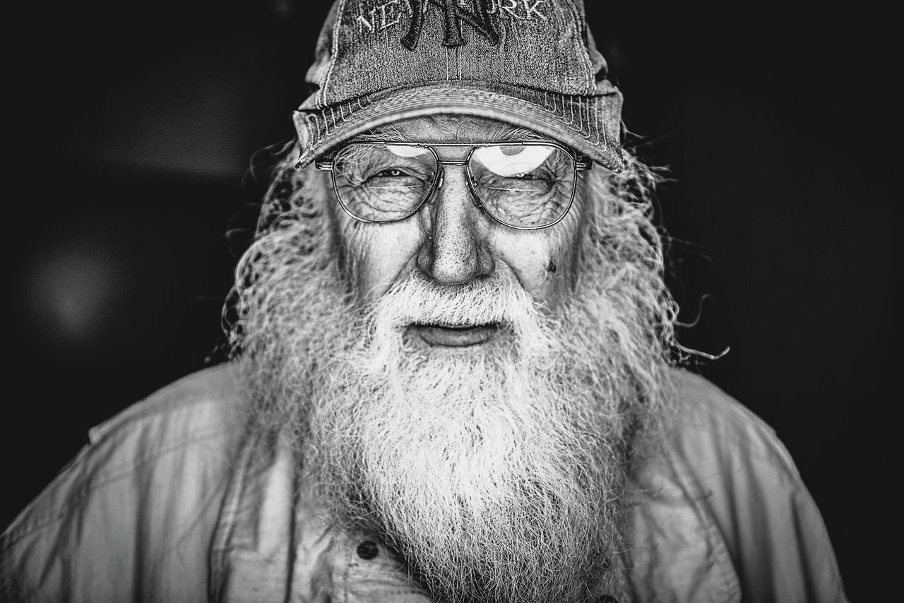 Old Man Wisdom Portrait Blackandwhite Open Edit People Photography Beard Glasses Elderly The Portraitist - 2015 EyeEm Awards My Mo For Movember Picturing Individuality