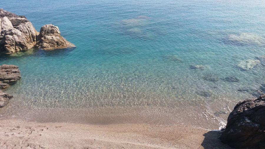 Italy Sicily Capo D'Orlando Spiaggia Mare Meer Strand Sea Beach Berge Wasser Transparent Transparent Water