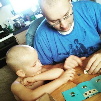 Doing Legos with daddy! Legos Mixels Daddytime Finemotorskills Matching Boys Boymom Love