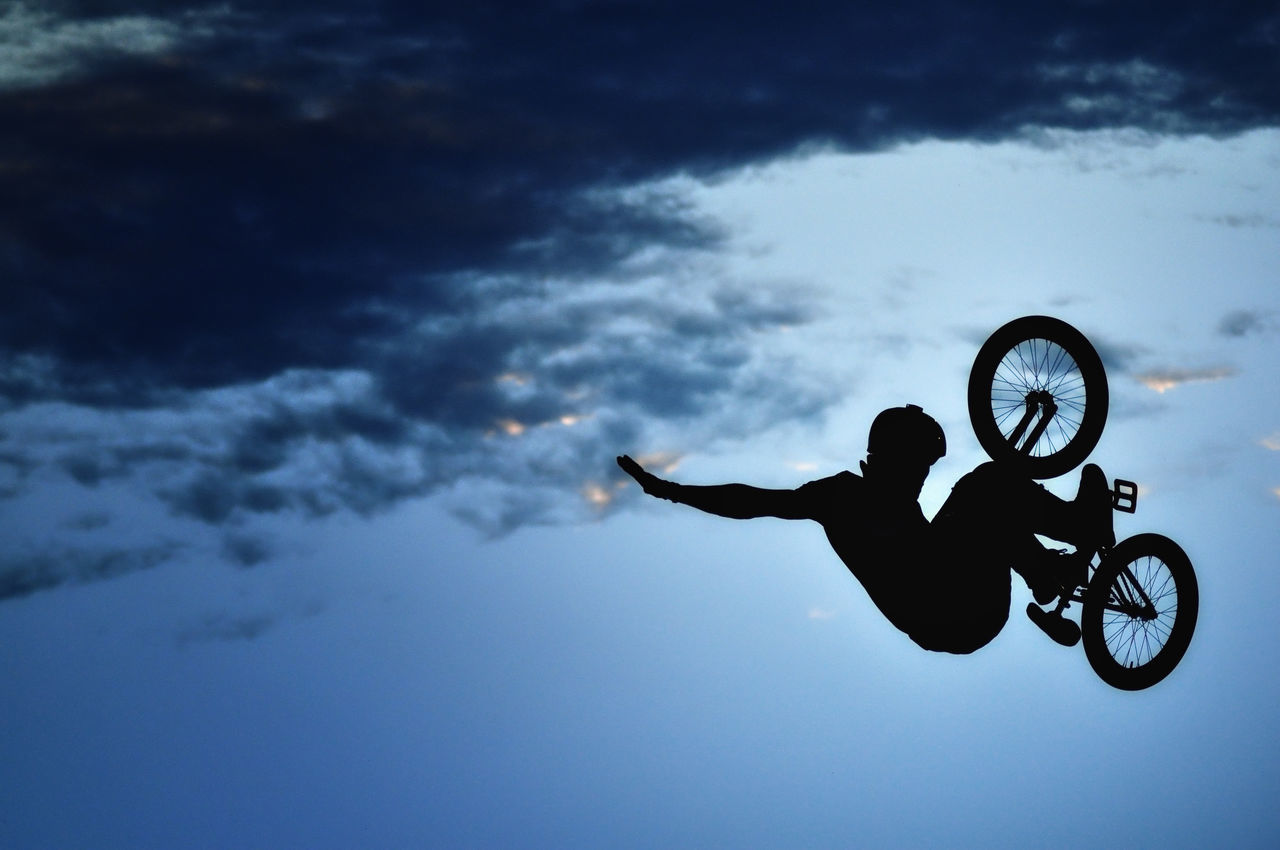 Beautiful stock photos of sky,  Adult,  Adults Only,  Bicycle,  Bmx Cycling