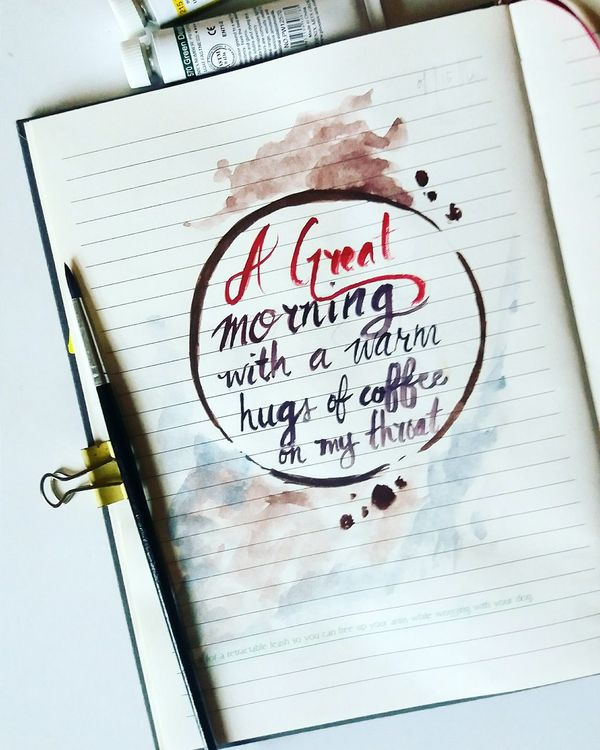 Watercolor Journal2016 Typography Lettering Colorsnletters Brushlettering