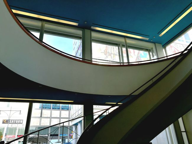 Architecture Low Angle View Elevated Walkway Steps And Staircases