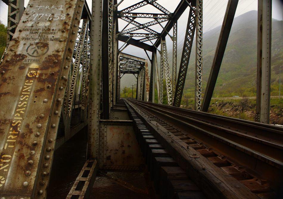 Railroad bridge over the Weber River. Weberriver Utah Railroad Railroadbridge