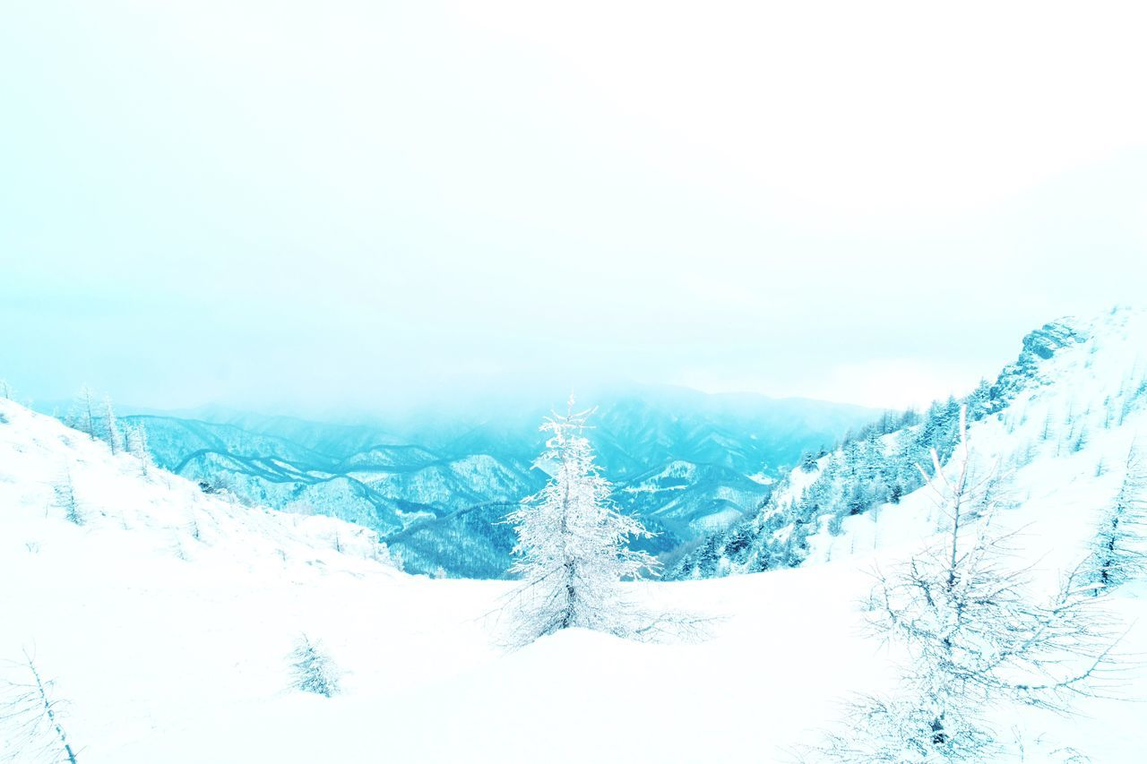 View Of Snowy Valley In Winter