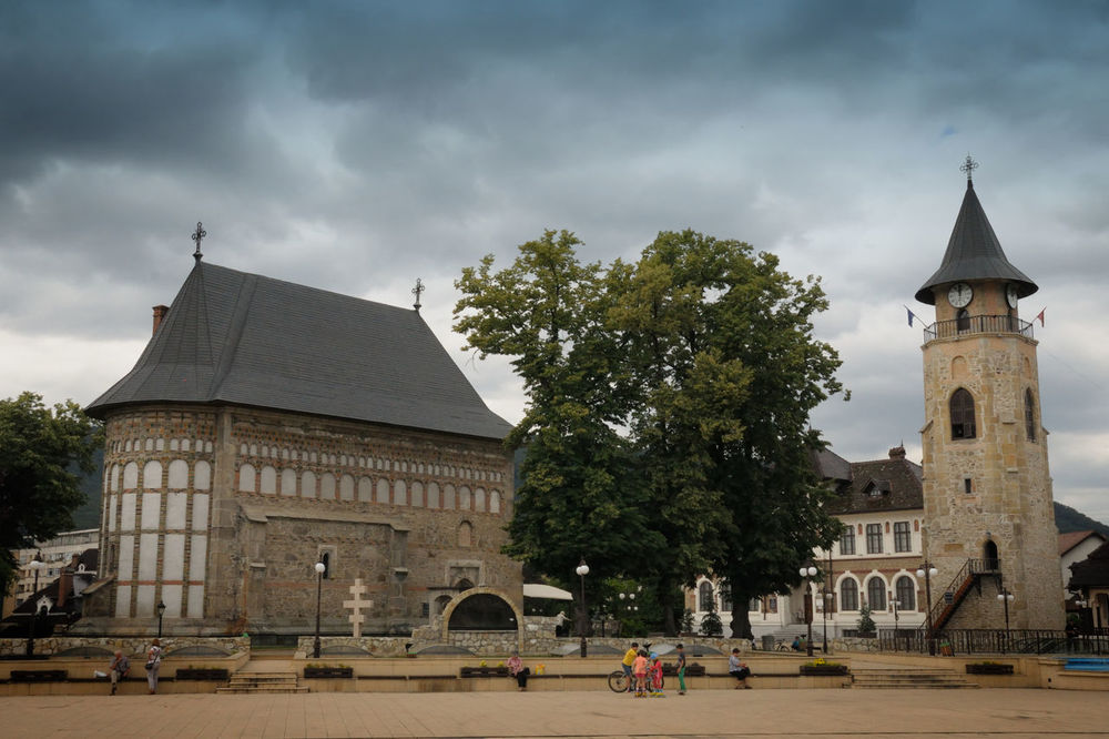 Beautiful historical centrum known also as court of a prince of Stefan the Great on June 11,2016 in Piatra Neamt, Romania Architecture Building Exterior Cloud - Sky Medieval Piatra Neamt Romania Romaniamagica Sky Travel Destinations